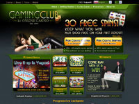 Gaming Club Casino Homepage
