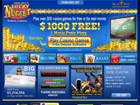 Lucky Nugget Casino Homepage